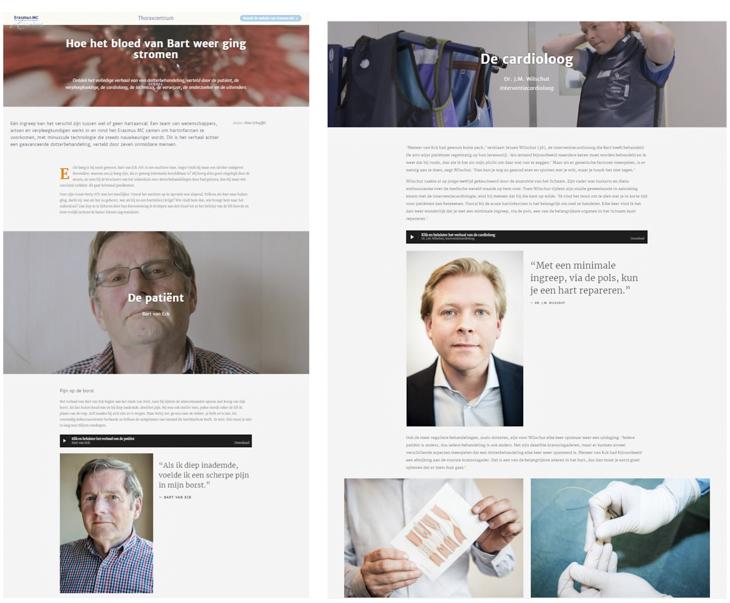 Erasmus MC - online longread 'Hoe Het Bloed Van Bart Weer Ging Stromen' (2017)